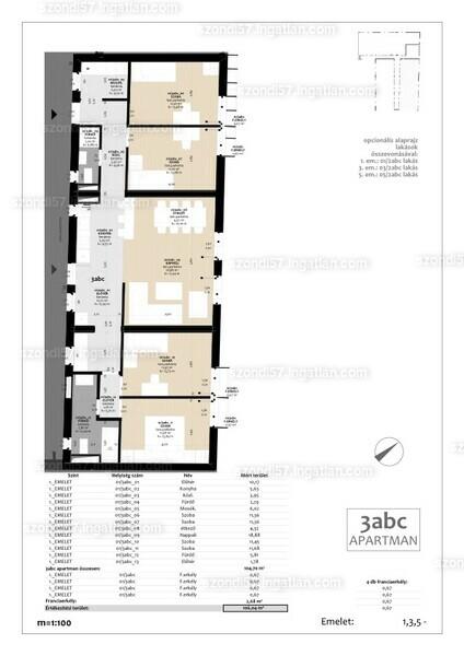 Szondi57 - 5 szoba erkéllyel