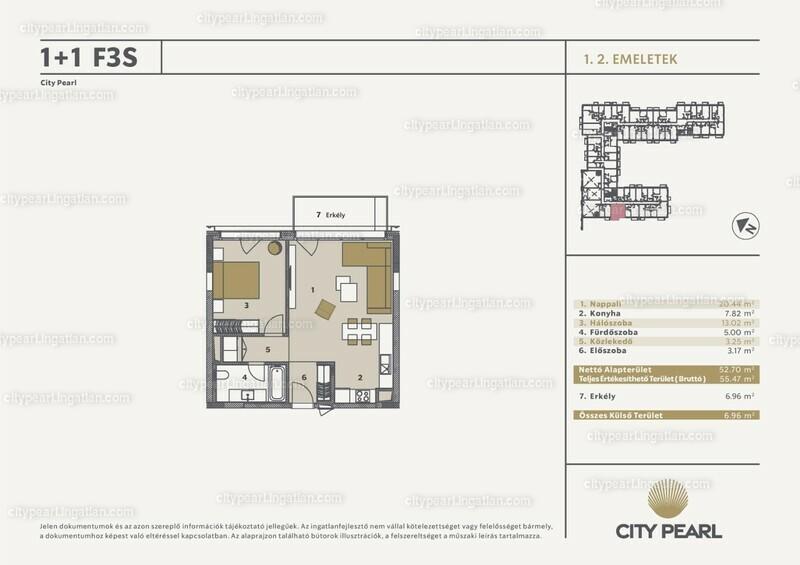 City Pearl Budapest - 2 szoba erkéllyel