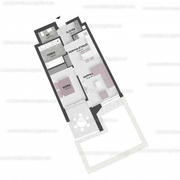 Carina Residence - 2 szoba kertkapcsolattal