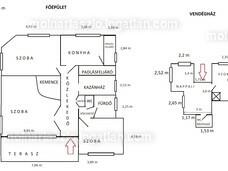 A 2 ház alaprajza