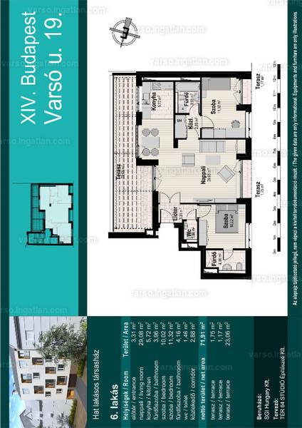 Varsó19 - 1 + 2 szoba erkéllyel