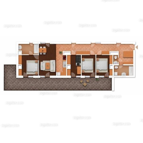 Somfa Liget VII. ütem - 2 + 3 szoba erkéllyel