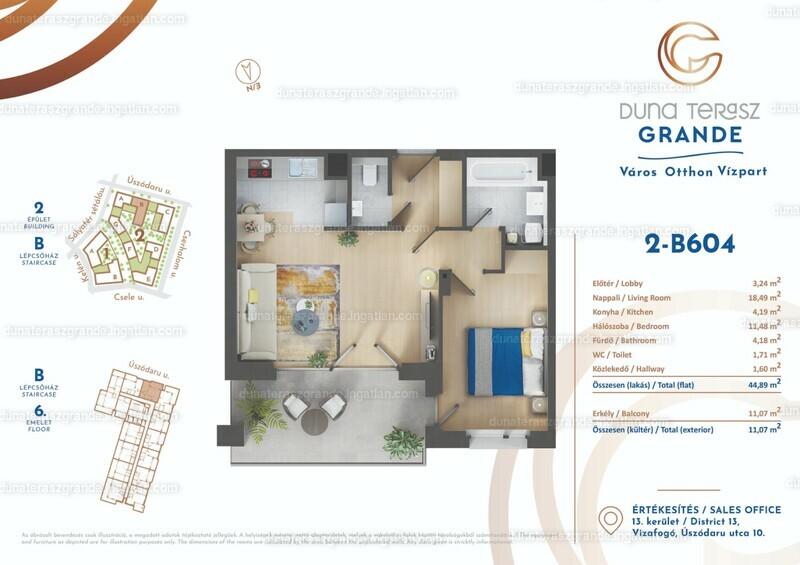 Duna Terasz Grande - 2 szoba erkéllyel