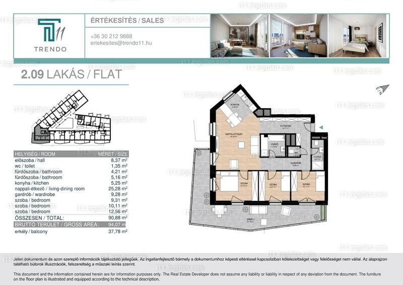 T11 - 1 + 3 szoba erkéllyel