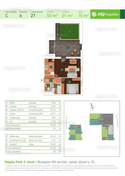 Dagály Park 2. ütem - 2 szoba kertkapcsolattal