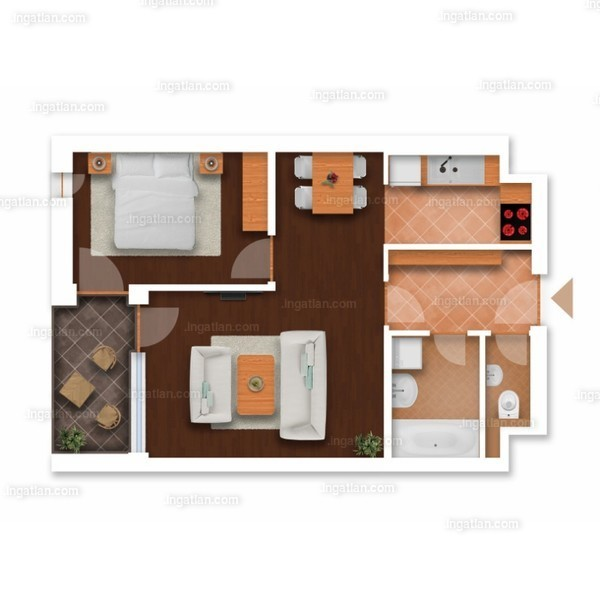 Somfa Liget VII. ütem - 1 + 1 szoba erkéllyel