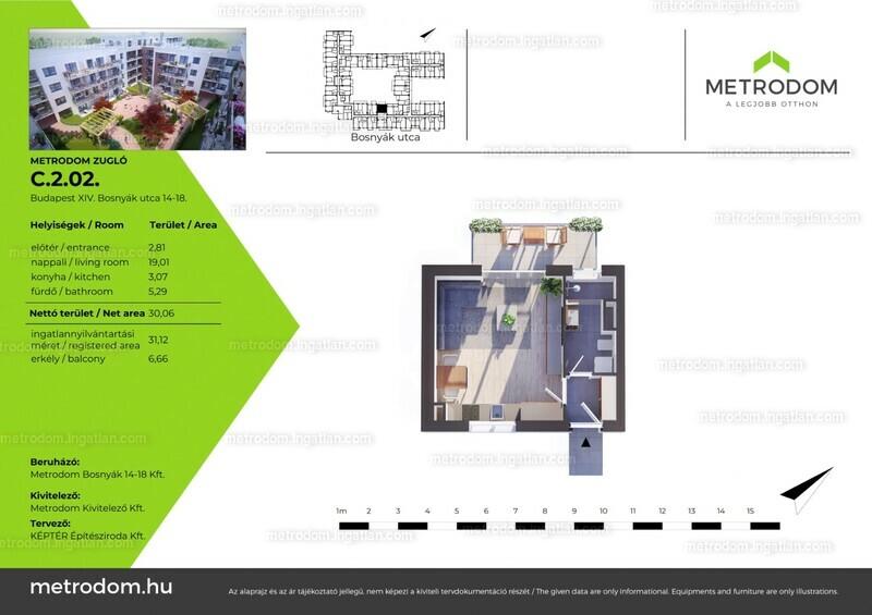 Metrodom Zugló - 1 szoba erkéllyel