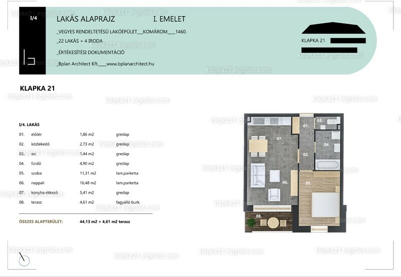 KLAPKA 21 - 2 szoba erkéllyel