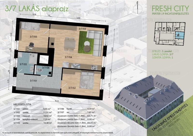 Fresh City - 3 szoba