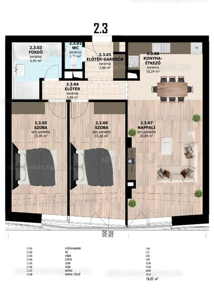 AJ3 Társasház - 3 szoba