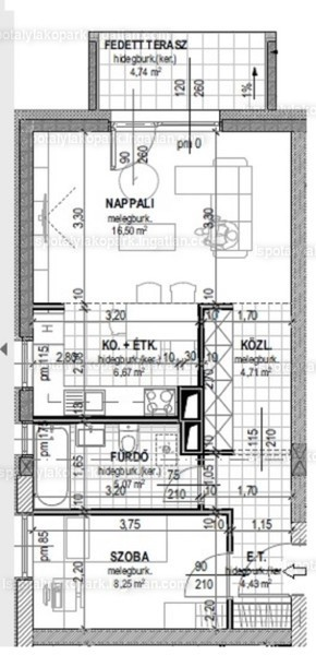Ispotály Lakópark - 2 szoba erkéllyel