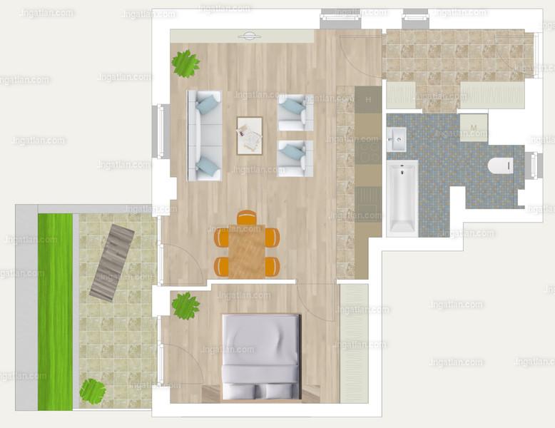 Pápay Park - 2 szoba kertkapcsolattal
