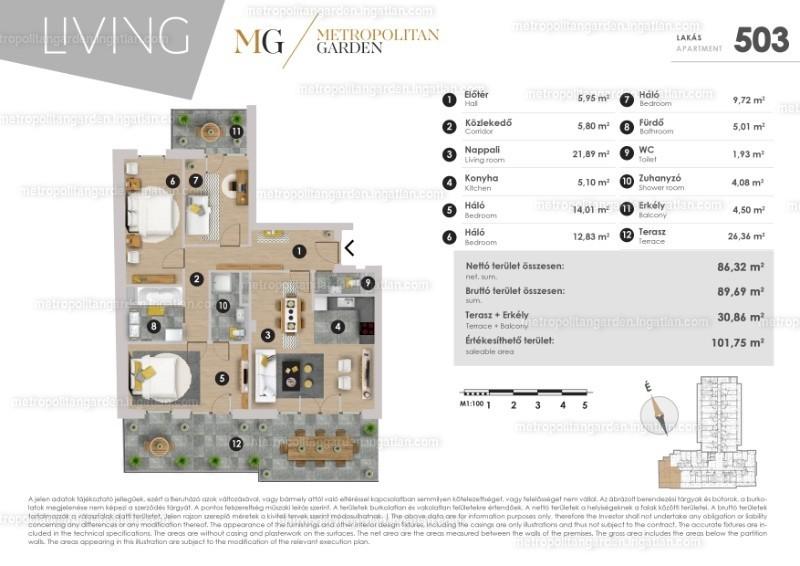 Metropolitan Garden - 4 szoba erkéllyel