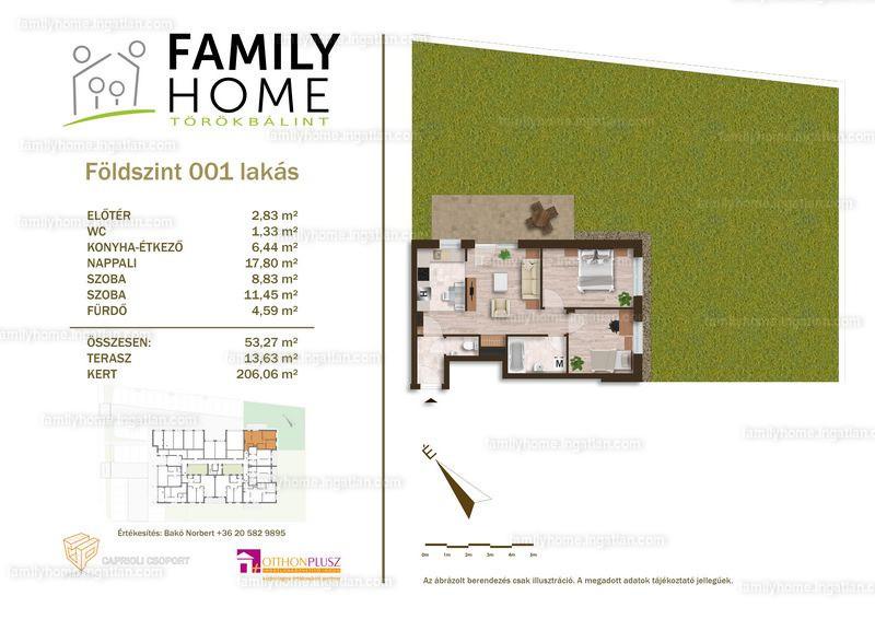 Family Home Törökbálint - 3 szoba kertkapcsolattal