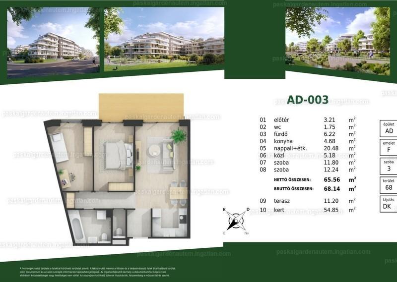 Paskal Garden A.ütem - 2 + 1 szoba kertkapcsolattal