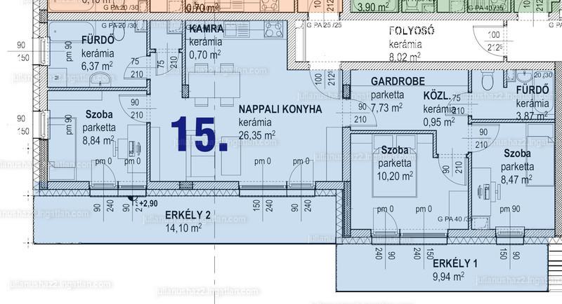1 + 3 szoba erkéllyel