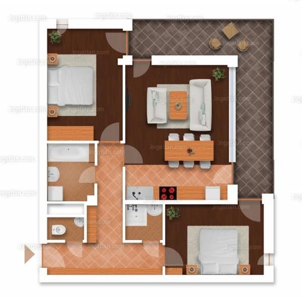 Somfa Liget VII. ütem - 3 szoba erkéllyel