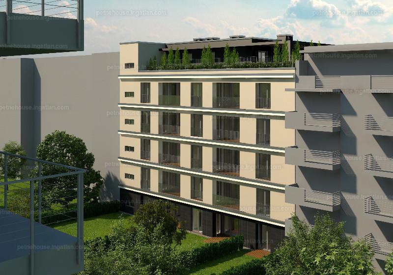 Petneház Társasház - 1 + 1 szoba erkéllyel