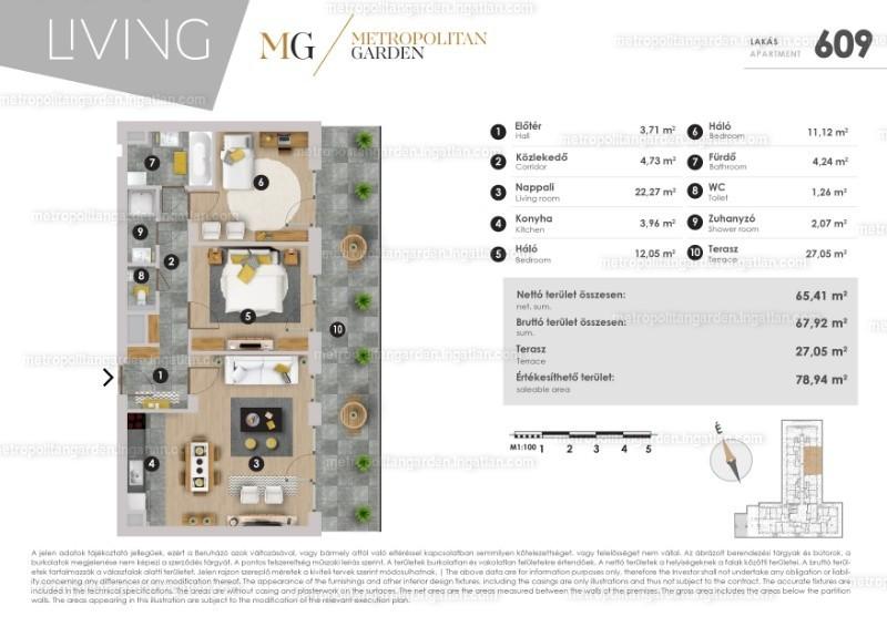 Metropolitan Garden - 2 + 1 szoba erkéllyel