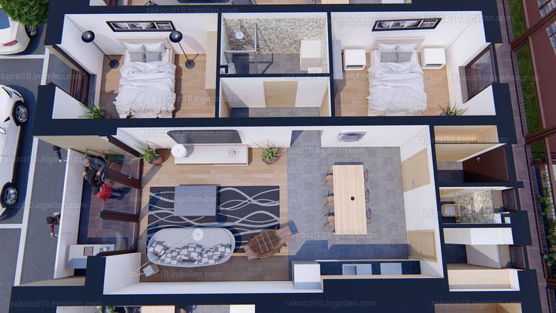 Rákóczi10 Lakópark - 3 szoba erkéllyel