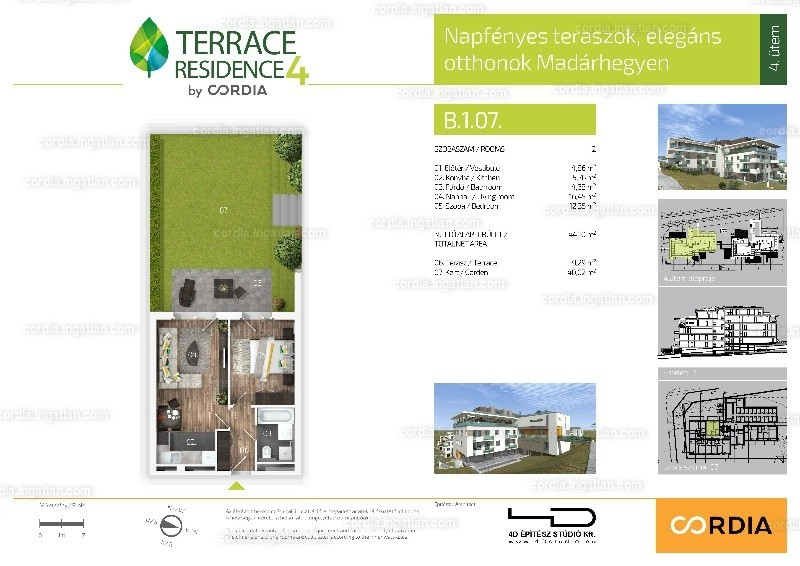 Terrace Residence 4 by Cordia - 2 szoba kertkapcsolattal