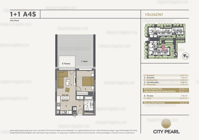 City Pearl Budapest - 2 szoba kertkapcsolattal