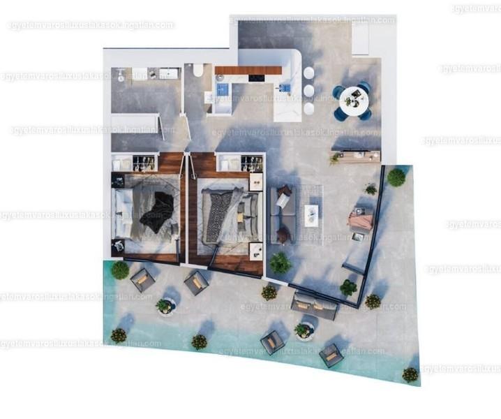 Egyetemvárosi luxuslakások - 3 szoba erkéllyel
