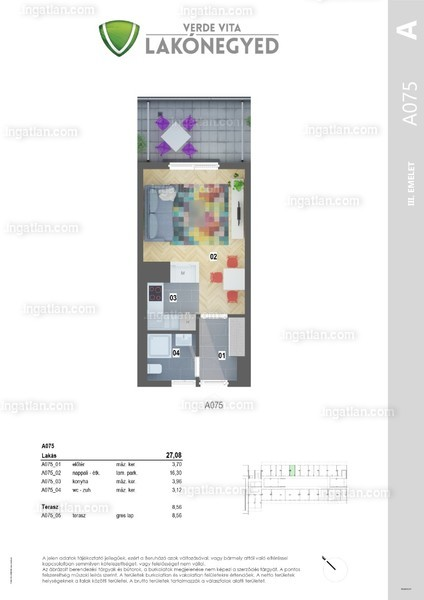 1 szoba erkéllyel