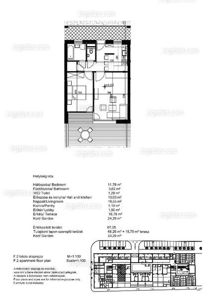 Orgonaliget Lakópark - 1 + 1 szoba kertkapcsolattal