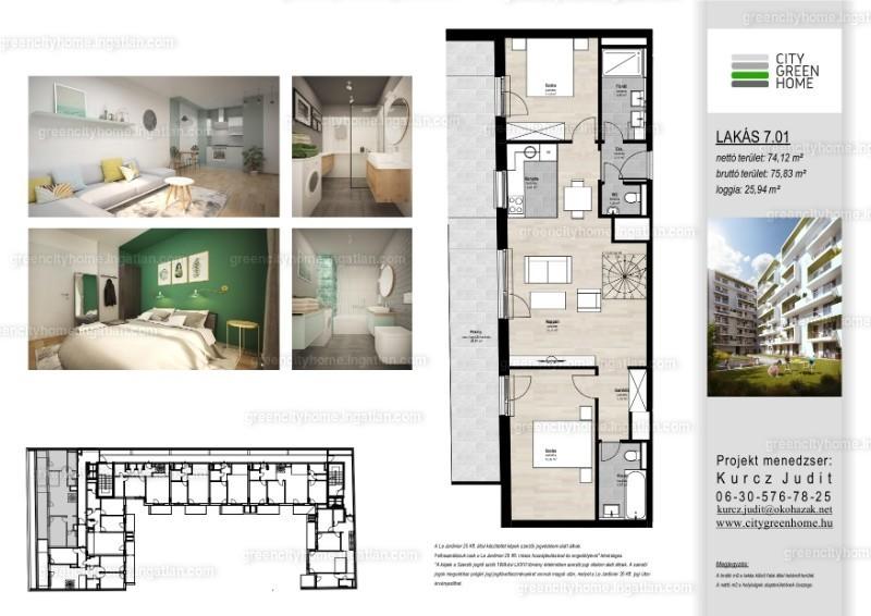 City Green  Home - 3 szoba kertkapcsolattal