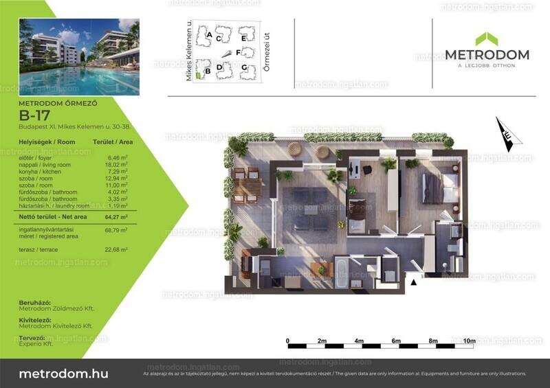 Metrodom Őrmező - 2 + 1 szoba erkéllyel