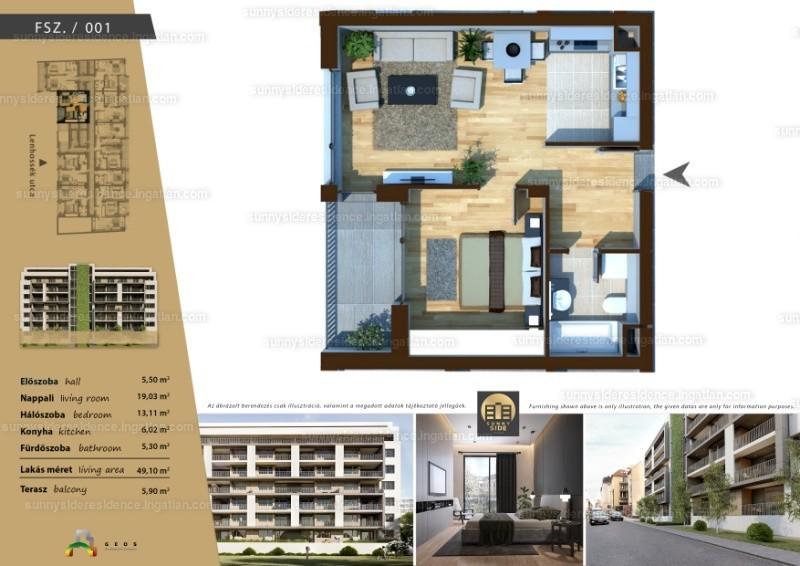 Sunny Side Residence - 2 szoba erkéllyel