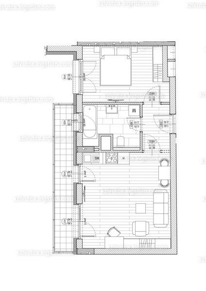 Szív utca - 2 szoba erkéllyel