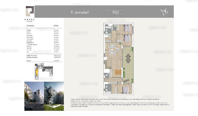 Pápay Park - 4 szoba erkéllyel