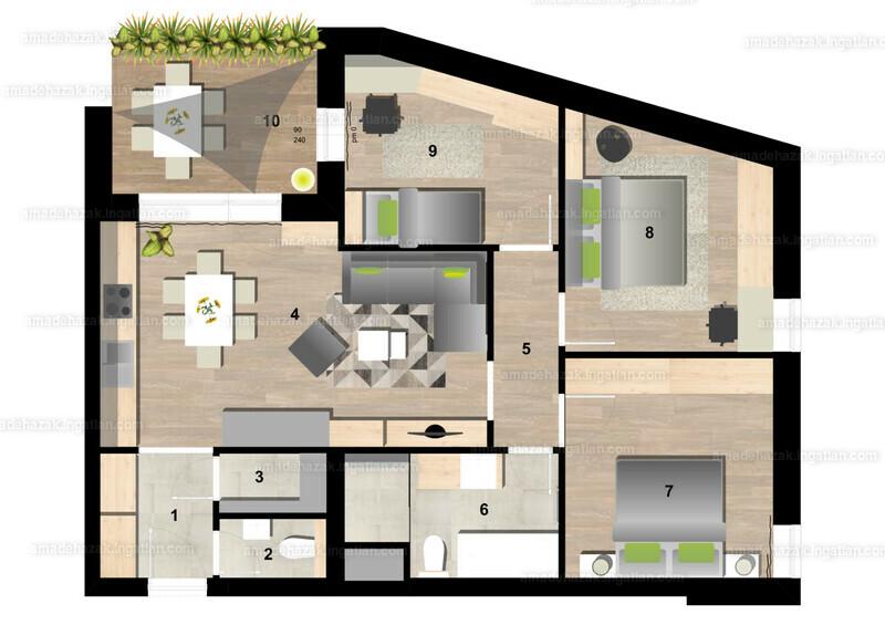 Amadé Házak - 4 szoba erkéllyel