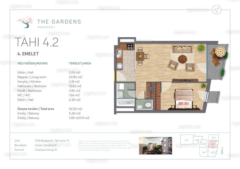 The Gardens Budapest - 2 szoba erkéllyel