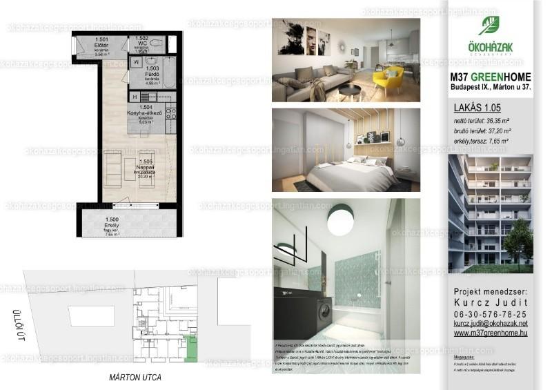 M37 Green Home - 1 szoba erkéllyel