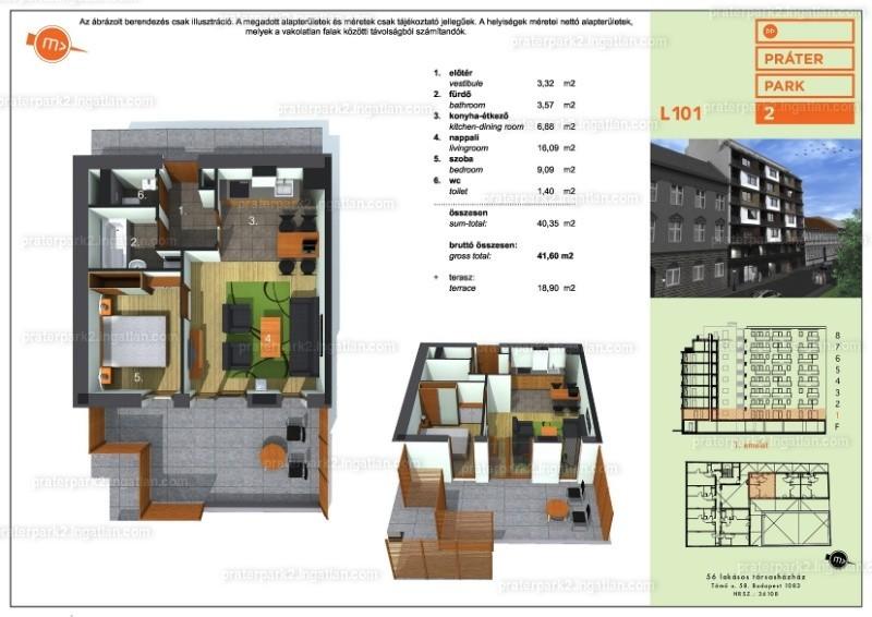 1 + 1 szoba erkéllyel