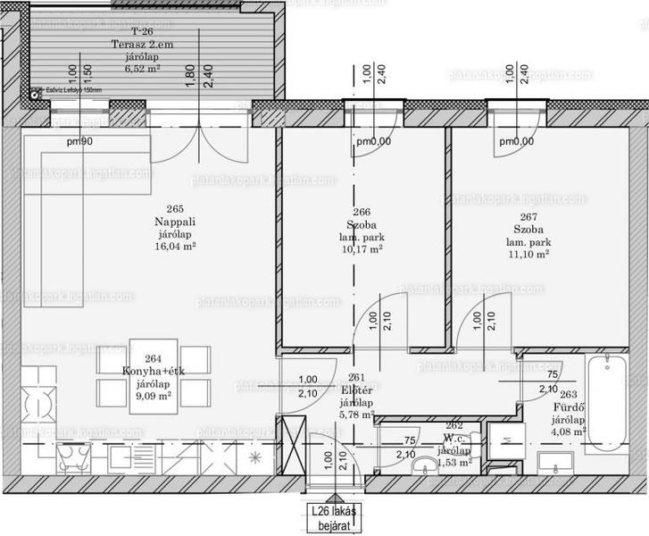 Platán Lakópark - 3 szoba erkéllyel