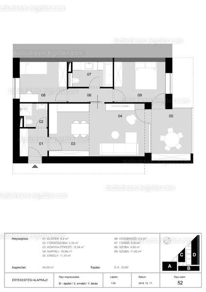 Dudi's Dream Lakópark - 3 szoba erkéllyel