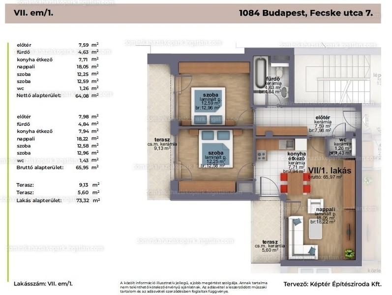 Dominika Ház - 3 szoba erkéllyel