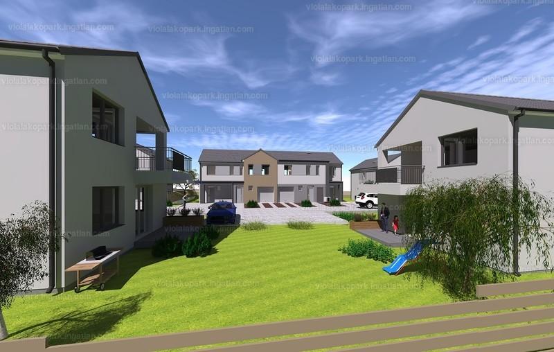 Viola lakópark - 4 szoba kertkapcsolattal