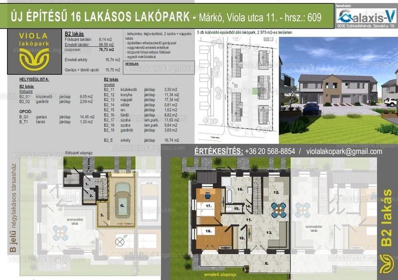 Viola lakópark - 3 szoba erkéllyel