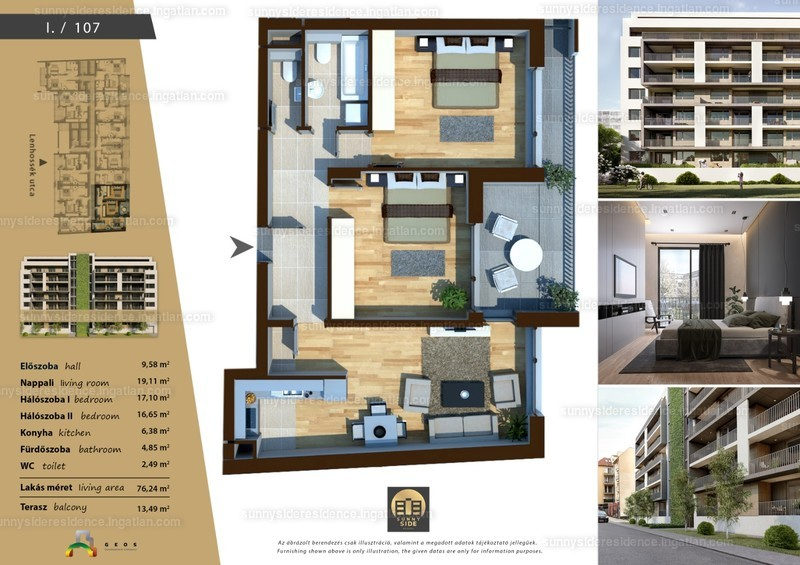 Sunny Side Residence - 3 szoba erkéllyel