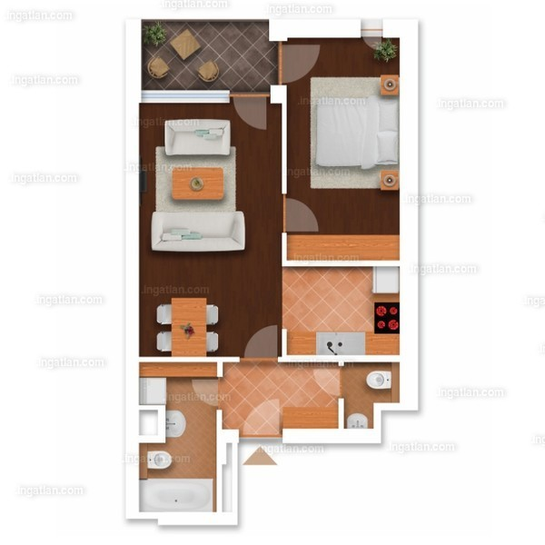 Somfa Liget VII. ütem - 2 szoba erkéllyel