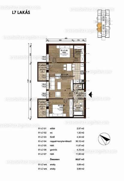 Erzsébetház - 3 szoba erkéllyel