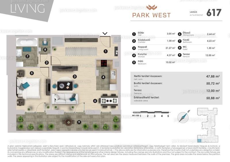 Park West - 2 szoba erkéllyel