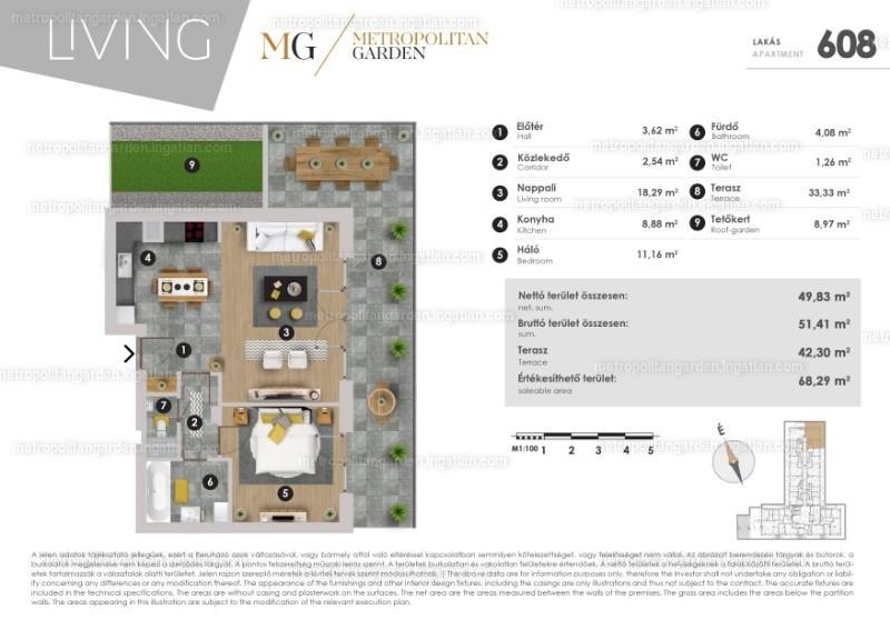Metropolitan Garden - 1 + 1 szoba erkéllyel