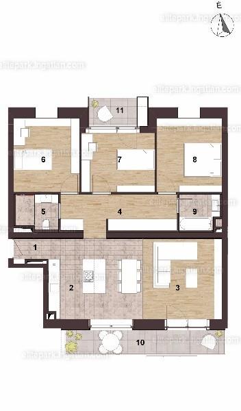 Elite Park - 4 szoba erkéllyel