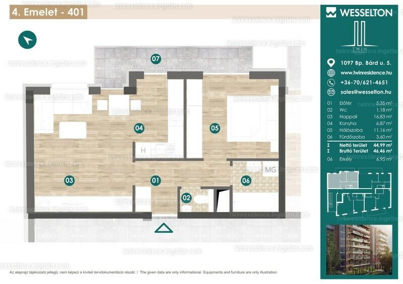 Twin Residence - 2 szoba erkéllyel